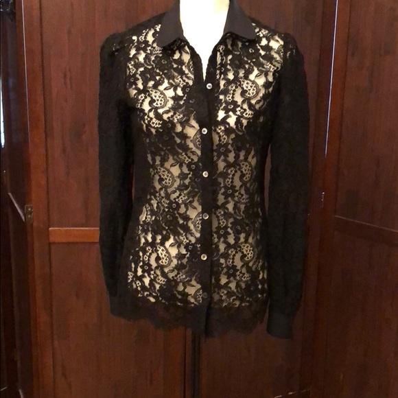 9f91720b67cebc Dolce   Gabbana Tops - Dolce   Gabbana women s lace blouse size ...